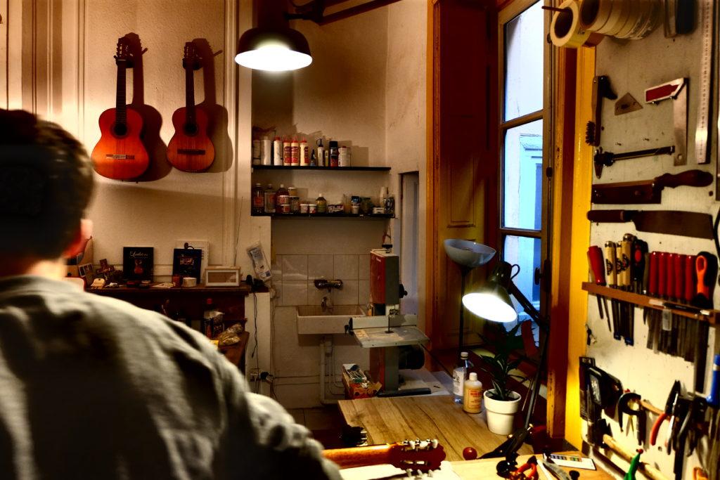 Guitares Pradel atelier produit