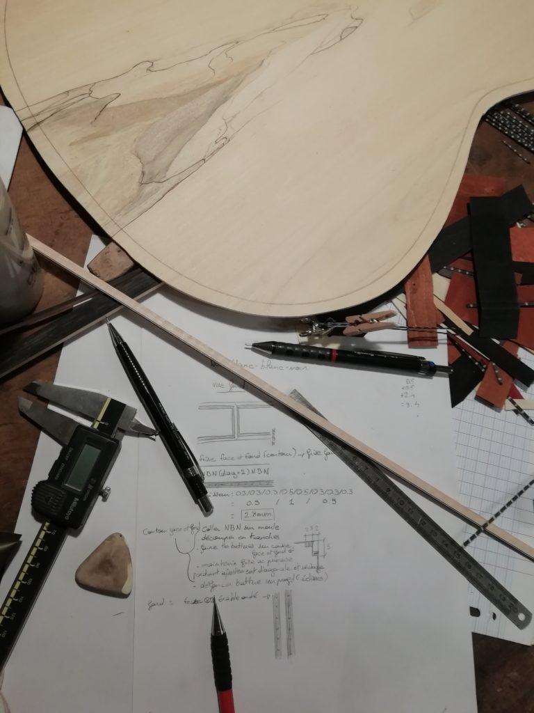 Guitares Pradel erable conception